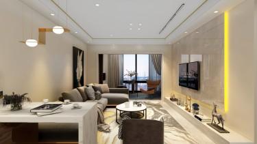 115平3室现代客厅