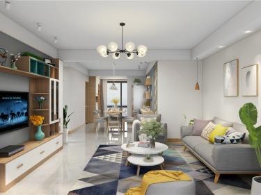 127平香城花园北欧风格-自然-香城花园小区127平米3室北欧装修案例