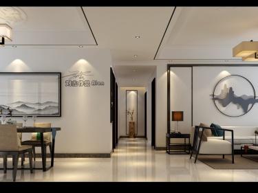 155平皖新文化广场新中式风格-设计和人生,都是以余味定输赢