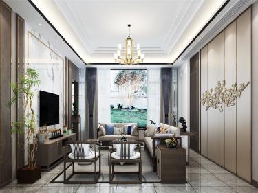 180平一亩园新中式风格-东方美学-一亩园小区180平米3室新中式装修案例