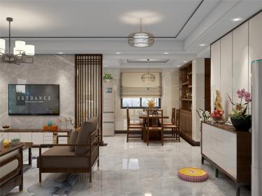 150平私宅新中式风格-归去来兮-私宅小区150平米4室新中式装修案例