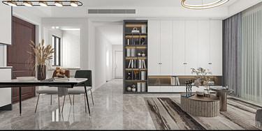 92平3室现代客厅