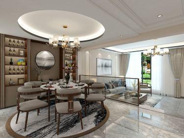 280平湖光名庭新中式风格-优雅新中式与都市现代化的结合