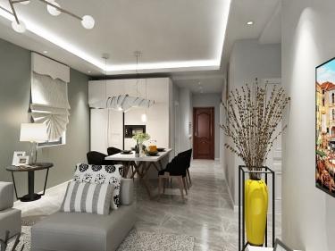 85平太湖区北欧风格-养老的家-大湖区53-15-1小区85平米2室北欧装修案例
