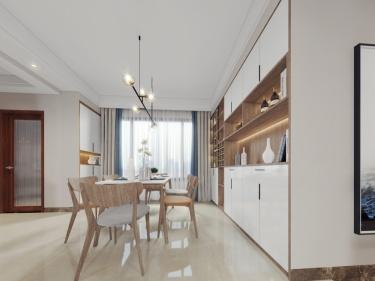 120平紫境府日式风格-紫境府小区120平米3室日式装修案例