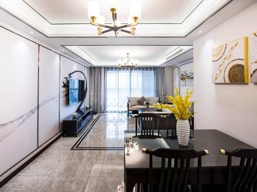 145平弘阳尊邸新中式风格-东篱清雅-弘阳尊邸小区145平米3室新中式装修案例