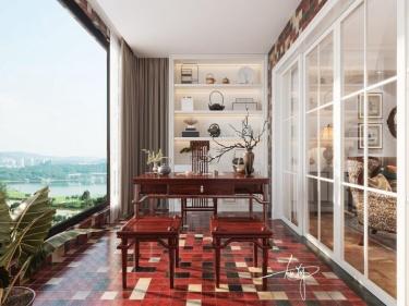 187平国宾一号美式风格-国宾一号小区187平米4室美式装修案例