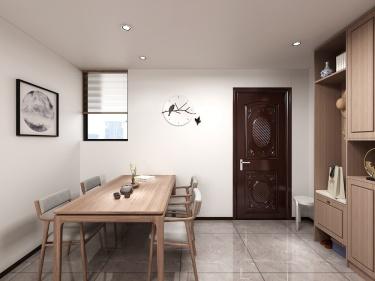 96平幸福里二期新中式风格-现代与古典的完美结合-幸福里二期小区96平米2室新中式装修案例
