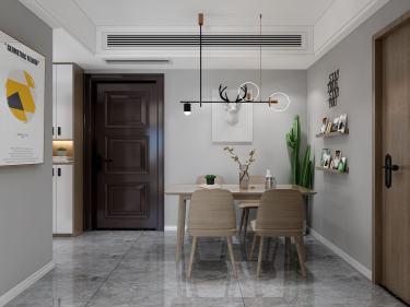 78平盛世华都北欧风格-盛世华都小区78平米3室北欧装修案例