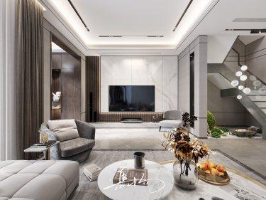 141平花语墅现代风格-摩登小资,情趣生活-花语墅小区141平米别墅现代装修案例