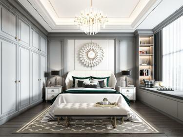 120平中心城二期美式风格-中心城2期小区120平米3室美式装修案例