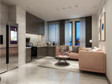 54平宝园财富广场现代风格-唯美单身公寓
