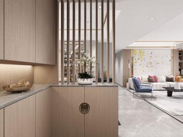 125平荷澜庭新中式风格-感知人间烟火无限诗意-荷澜庭小区125平米3室新中式装修案例