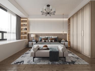 155平公园天下中式风格-日落秋韵-公园天下小区155平米4室中式装修案例