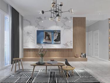 138平中南珑悦北欧风格-原木北欧风,宁静且优雅-中南珑悦小区138平米3室北欧装修案例