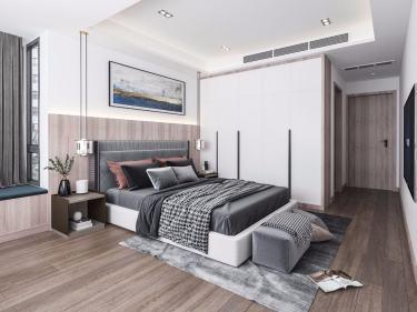 128平翰林公馆现代风格-翰林公馆小区128平米3室现代装修案例