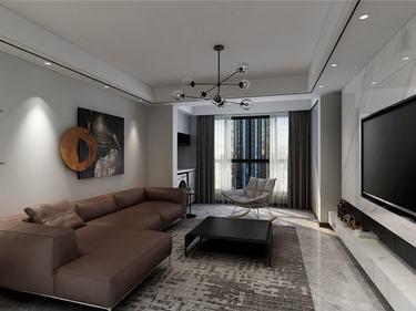 125平恒盛豪庭现代风格-都市新贵-恒盛豪庭小区125平米3室现代装修案例