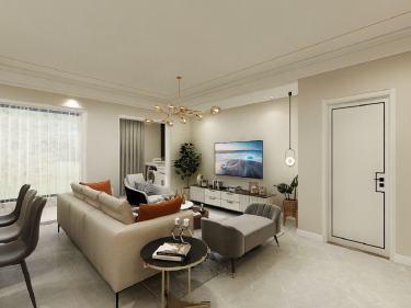 135平湖语墅现代风格-湖语墅小区135平米3室现代装修案例