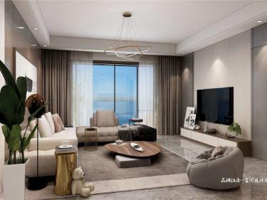 140平花语江南现代风格-花语江南小区140平米3室现代装修案例