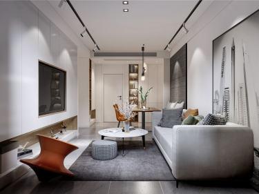 85平远洋花园现代风格-邂逅时光-远洋花园小区85平米2室现代装修案例