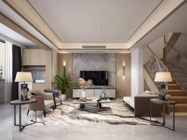 151平南山楠现代风格-自然温馨的轻奢范-南山楠小区151平米跃层/复式现代装修案例