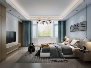430平吴越府现代风格-林-吴越府小区430平米别墅现代装修案例