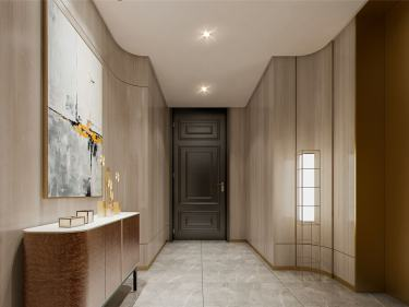 200平城中花园现代风格-清秋-城中花园小区200平米4室现代装修案例