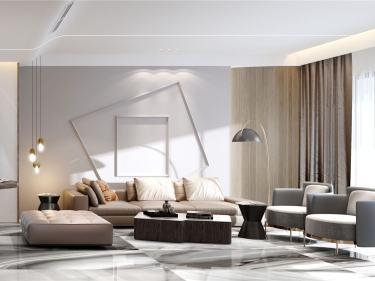 190平同进君望现代风格-落樱缤纷-同进君望小区190平米3室现代装修案例