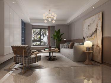 118平宝龙城市广场现代风格-艺术生活-宝龙城市广场小区118平米3室现代装修案例