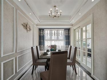 132平4室欧式餐厅