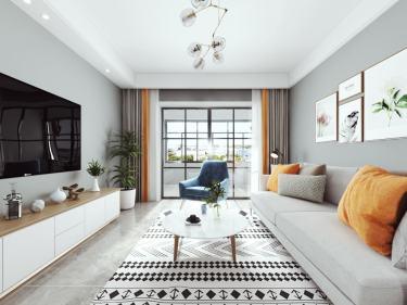 105平三千邑现代风格-简约时尚的设计  让家充满慵懒的舒适-三千邑小区105平米3室现代装修案例