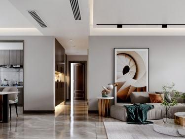 140平橡树湾欧式风格-格调之余~轻奢气质-橡树湾小区140平米4室欧式装修案例