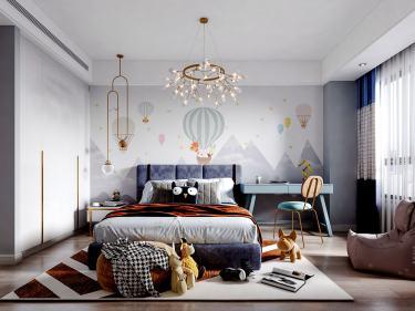 160平橡树湾现代风格-轻奢之美-橡树湾小区160平米4室现代装修案例