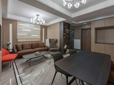 87平金桂家园现代风格-半夏·秋逸-金桂家园小区87平米2室现代装修案例