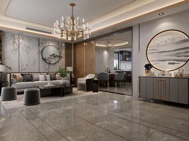 280平中海万锦园新中式风格-流印古意