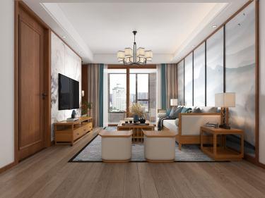 109平城东一号新中式风格-静享慢时光-城东一号小区109平米3室新中式装修案例