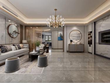 280平中海万锦园新中式风格-流印古意-中海万锦园小区280平米别墅新中式装修案例