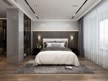 139平朗达壹号院现代风格-出彩人生-朗达壹号院小区139平米4室现代装修案例