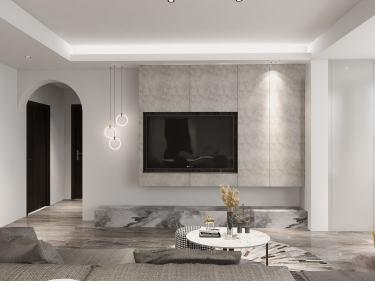 134平城投广场现代风格-四室两厅两卫