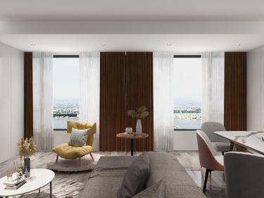 134平城投广场现代风格-四室两厅两卫-城投广场小区134平米4室现代装修案例