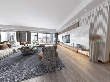 300平保利康桥现代风格-保利康桥小区300平米4室现代装修案例