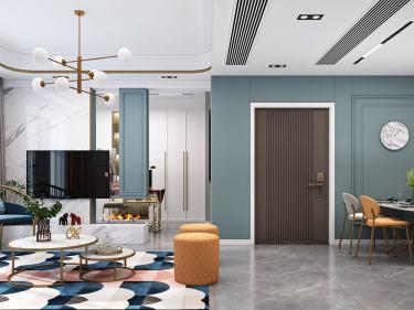127平大发融悦东方现代风格-海天绎色-大发融悦东方小区127平米3室现代装修案例