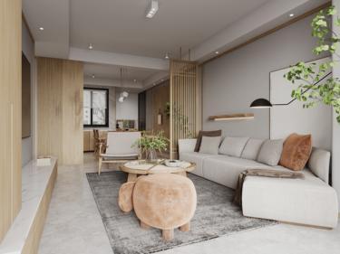 127平中南熙悦日式风格-清新自然-中南熙悦小区127平米4室日式装修案例