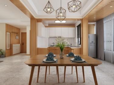 130平金磊中央城日式风格-清雅幽静,禅意无穷-金磊中央城小区130平米3室日式装修案例