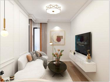 35平蓝朝部落现代风格-蓝朝部落小区35平米1室现代装修案例