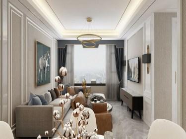 136平彭浦家园美式风格-彭浦家园小区136平米3室美式装修案例