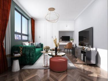 70平东欣小区现代风格-东欣小区小区70平米1室现代装修案例