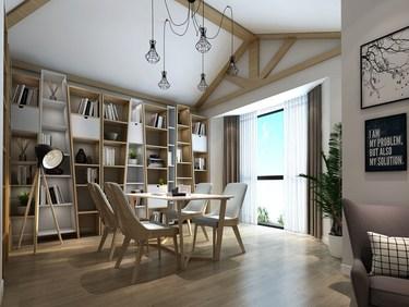 350平安盛景园北欧风格-安盛景园小区350平米别墅北欧装修案例