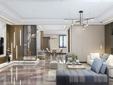 318平湖光名庭现代风格-现代轻奢雅致别墅
