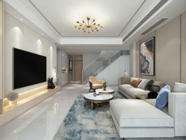 240平水木清华现代风格-水木清华小区240平米跃层/复式现代装修案例